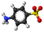 Sulfanilic acid zwitterion ball.png