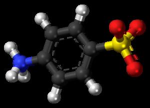 Sulfanilic acid - Image: Sulfanilic acid zwitterion ball