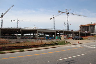 SunTrust Park - SunTrust Park under construction, July 2015