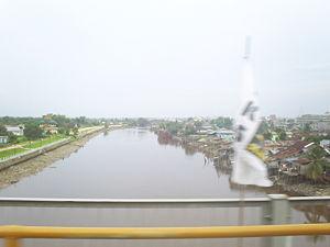 Siak River - The Siak River as it flows through Pekanbaru