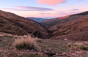 Sunrise over a valley in Capileira, Sierra Nevada National Park (DSCF5406).jpg