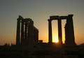 Sunset at temple of Poseidon at Sounio.png