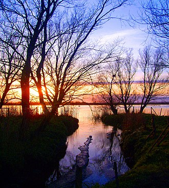 Coonagh, Limerick City - Image: Sunset on the Shannon in Coonagh