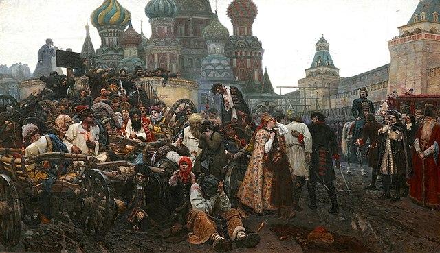 Утро стрелецкой казни. Худ. В.И.Суриков, 1881