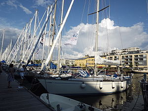 Ron Holland - Swan 441 in the  harbour at Turku, Finland
