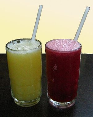 Juice - Sweet lime juice and pomegranate juice.