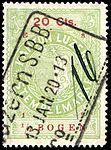 Switzerland Lucerne 1919 revenue 6 20c - 167 - E 8 19.jpg