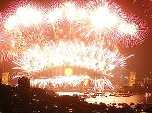 English: Fireworks on the Harbour (Sydney) 2008