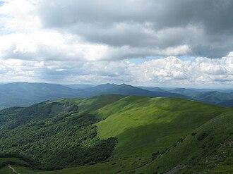 Bieszczady Mountains - Szeroki Wierch seen from Tarnica