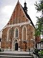 Szydłów,Kościół św. Władysława w Szydłowie kościół par. pw. św. Władysława, poł. XIV w., lata 1945-1948.JPG