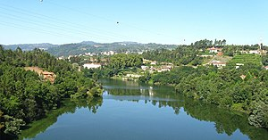 Santo Isidoro - A view of the Tâmega River flowing on the south margin of Santo Isidoro