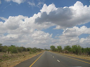 Pwani Region - A14 trunk road connecting Dar es Salaam to the northern zone