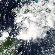 A disorganized tropical depression over Cuba.