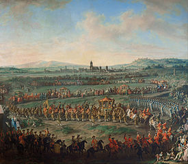 Einzug von Joseph II. (1741-1790) zur Krönung in Frankfurt