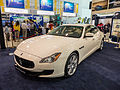 TIBS North Hall Maserati Quattroporte VI Display at Modena MotoriI Taiwan Booth 20140508.jpg