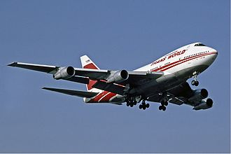 Trans World Airlines - TWA Boeing 747SP at Heathrow Airport in 1983