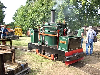 Vertical boiler - Taffy a replica of Chaloner, a de Winton vertical-boilered narrow gauge railway locomotive