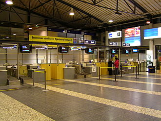 Tampere–Pirkkala Airport - The check-in area of Terminal 1