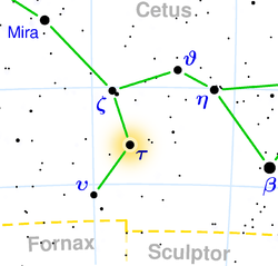 Location of Tau Ceti