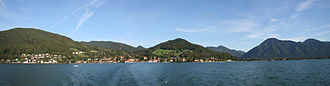 Tegernsee - Panorama of the town from across the lake