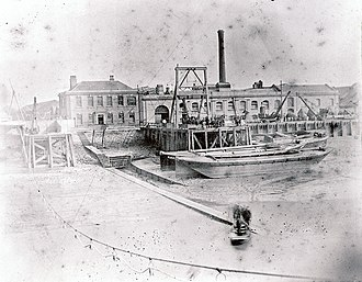 Atlantic Telegraph Company - Telegraph Construction and Maintenance Company works, at Enderbys Wharf,
