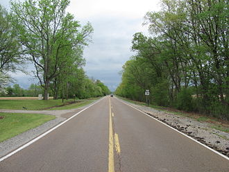 Tennessee State Route 76 - Northbound in Stanton