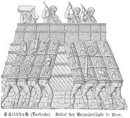 Testudo relief Marcus Aurelius column