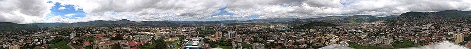 Panoramic view of Tegucigalpa