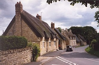 Exton, Rutland - Image: Thatched cottages at Exton geograph.org.uk 63612