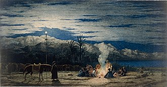Antiques Roadshow - The Artist's Halt in the Desert by Moonlight, watercolour, by Richard Dadd