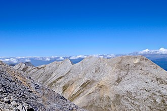 Koncheto - The Koncheto ridge as seen from peak Vihren