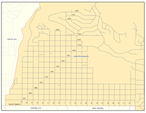 The Avenues, Salt Lake City - Wikipedia on cuyahoga county parcel maps, stanislaus county parcel maps, summit county parcel maps, garfield county parcel maps, siskiyou county parcel maps, pinal county parcel maps,