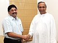 The Chief Minister of Orissa, Shri Naveen B. Patnaik calls on the Union Minister of Textiles, Shri Dayanidhi Maran, in New Delhi on August 20, 2009.jpg
