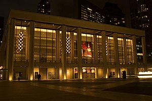 David H. Koch Theater - The David H. Koch Theater at Lincoln Center, seen from the Lincoln Center Plaza.