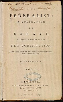 The Federalist (1st ed, 1788, vol I, title page) - 02.jpg
