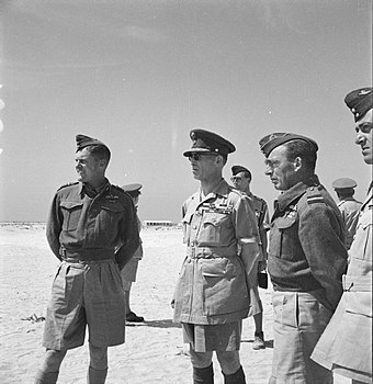 George II during his visit to a Greek fighter station, 1944 The Greek Government in Exile during the Second World War CM2758.jpg