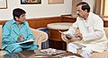 The Lt. Governor of Puducherry, Ms. Kiran Bedi calling on the Minister of State for Culture and Tourism (Independent Charge), Dr. Mahesh Sharma, in New Delhi on July 25, 2016 (1).jpg