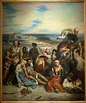 Pierre Andrieu (artist) - The Massacre of Chios (copy of work by Delacroix)