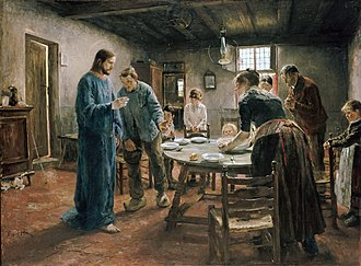 Contemporary fantasy - Fritz von Uhde's late-19th-century series of paintings, depicting Jesus Christ appearing in the homes of realistically-drawn working class German families of the painter's time, can be considered a kind of pictorial contemporary fantasy.