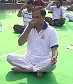 The Minister of State for Culture (IC) and Environment, Forest & Climate Change, Dr. Mahesh Sharma performing Yoga, on the occasion of the 4th International Day of Yoga 2018, in Kolkata on June 21, 2018 (1).JPG