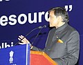 The Minister of State for Human Resource Development, Dr. Shashi Tharoor addressing the International Conference on Community Colleges, in New Delhi on February 06, 2013.jpg