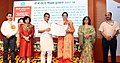 The Minister of State for Human Resource Development, Shri Upendra Kushwaha presenting the CBSE Teachers Award 2017-18, at a function, in New Delhi.JPG