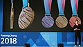 The Olympic medals XXIII of the Olympic winter Games 2018 in Pyeongchang.jpg