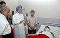 The Prime Minister, Dr. Manmohan Singh meets the bomb blast victims at Ram Manohar Lohia Hospital, in New Delhi on September 14, 2008 (2).jpg