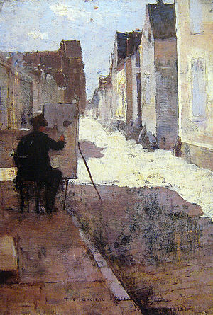 Grez-sur-Loing - Main street in Grez, by John Lavery