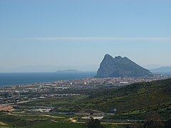 The Rock of Gibraltar and La Linea from the Campo.jpg