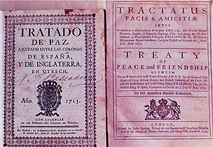 A first edition of the Treaty of Utrecht, 1713...
