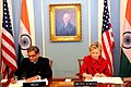The Union Minister for External Affairs, Shri S.M. Krishna and the US Secretary of State, Ms. Hillary Clinton signing an MoU on Energy, at Washington on November 24, 2009.jpg