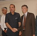 The Union Minister for Health and Family Welfare, Shri Ghulam Nabi Azad meeting the Co-Chairperson of Gates Foundation, Mr. Bill Gates, in New Delhi on July 24, 2009.jpg