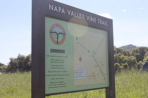 Yountville, California - Vine Trail Bike Path map